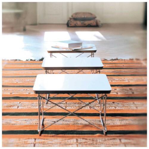 Vitra LTR tafel met zwart onderstel-Wit HPL