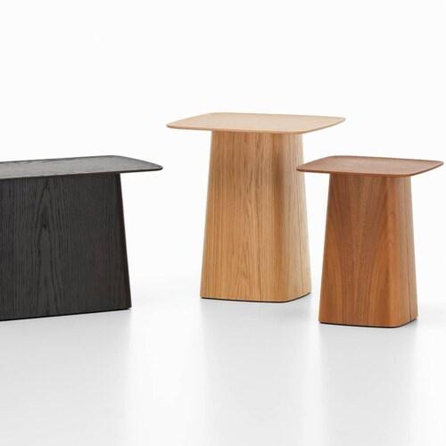Vitra Wooden Side Table bijzettafel-Donker eiken-31,5x31,5 cm