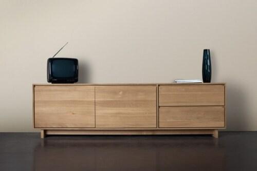 Ethnicraft Wave TV Cupboard eiken kast-Large