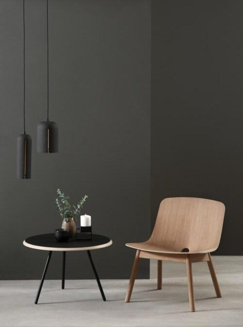 WOUD Gap short hanglamp-Black