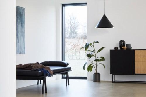WOUD Annular hanglamp-Black-Medium