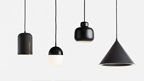 WOUD Annular hanglamp-Black-Large