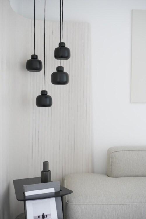 WOUD Stone hanglamp-Black
