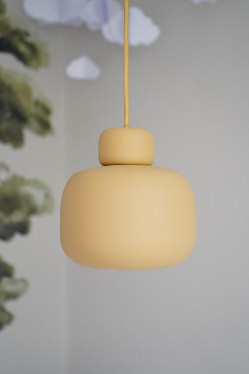 WOUD Stone hanglamp-Mustard