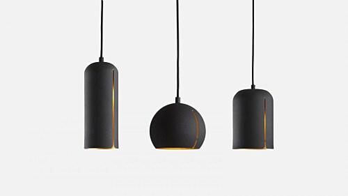 WOUD Gap rond hanglamp-Black
