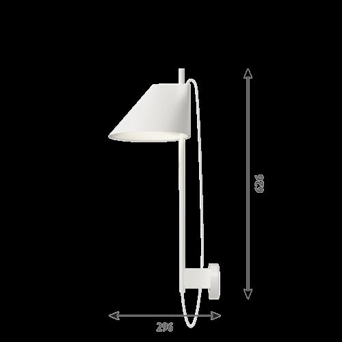 Louis Poulsen Yuh wandlamp-Wit