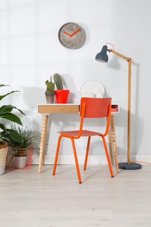 Zuiver Back to School stoel-Oranje