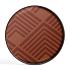 Product afbeelding van: Ethnicraft Orange Chevron 61 cm dienblad / tafel