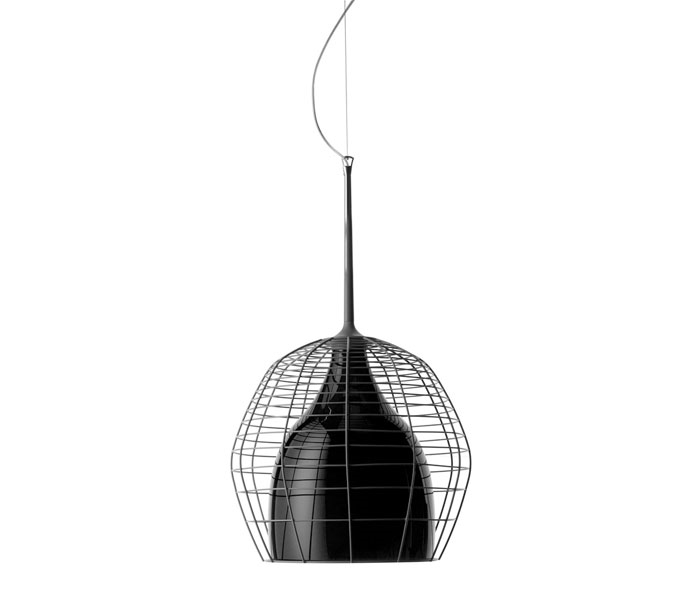 Diesel with Foscarini Cage hanglamp-Zwart-Piccola