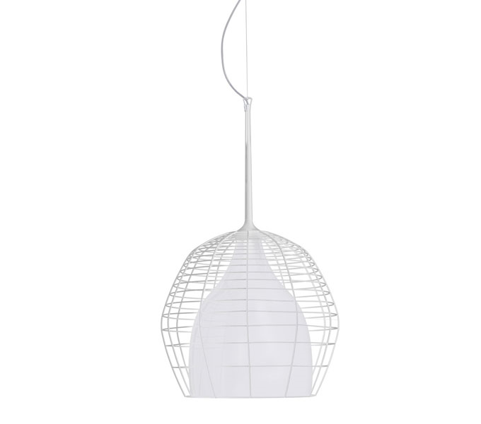 Diesel with Foscarini Cage hanglamp-Wit-Piccola