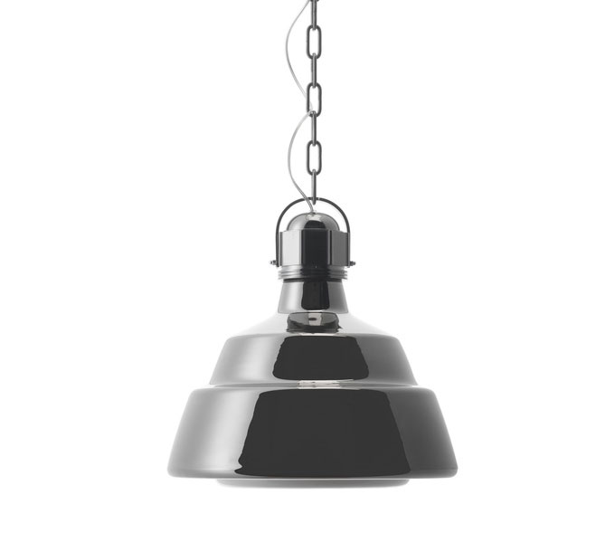 Diesel with Foscarini hanglamp Glas-Chroom-Grande