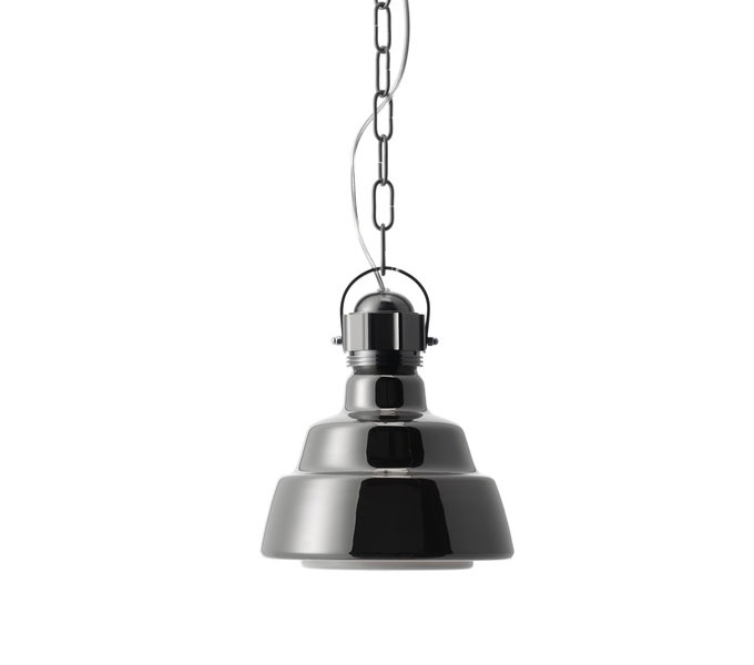 Diesel with Foscarini hanglamp Glas-Chroom-Piccola