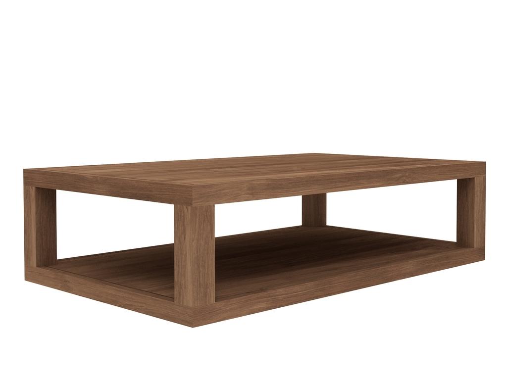 Ethnicraft Duplex teak salontafel -130x80 cm