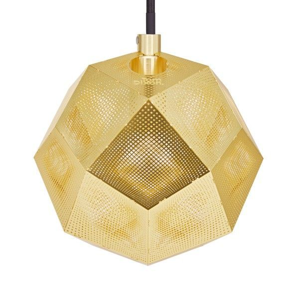 Tom Dixon Etch mini hanglamp-Messing