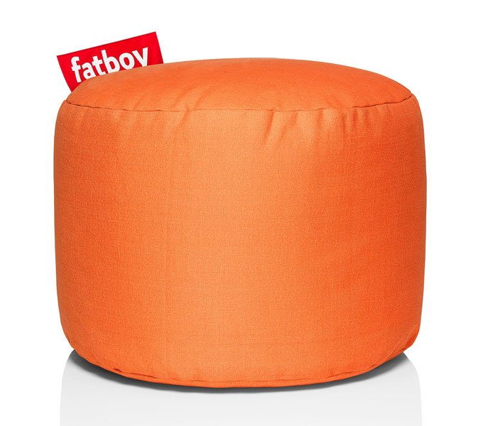 fatboy point stonewashed pouf oranje. Black Bedroom Furniture Sets. Home Design Ideas