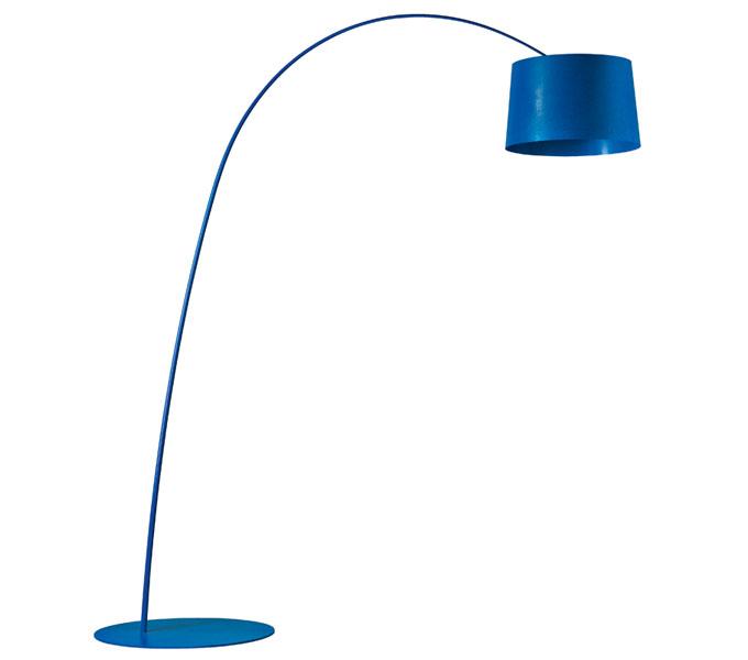 Foscarini Twiggy LED dimbaar booglamp-Blauw