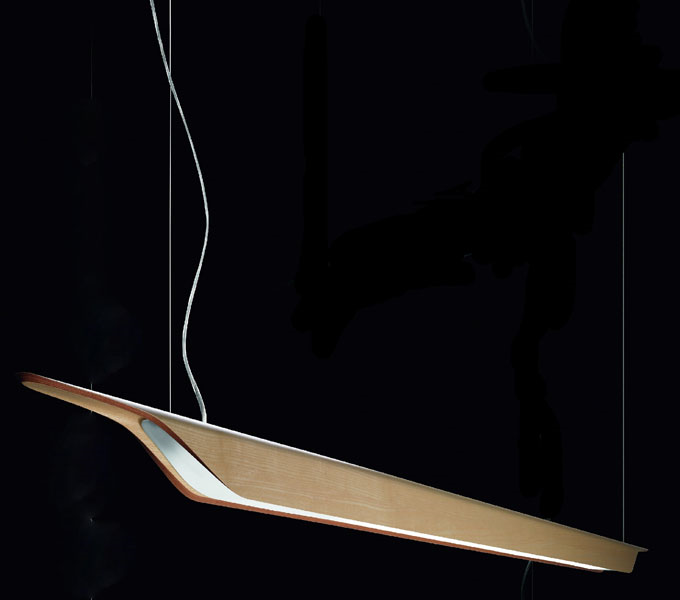 Foscarini Troag hanglamp-Natural-Piccola