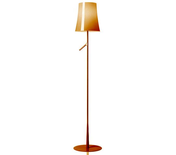 Foscarini Birdie met dimmer vloerlamp-Oranje