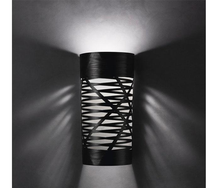 Foscarini Tress wandlamp-Zwart-Piccola