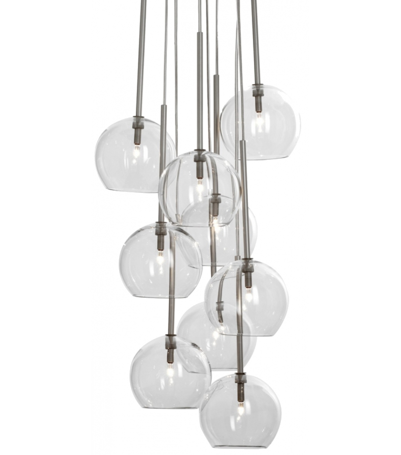&tradition Ice 9 chandelier hanglamp-Transparant