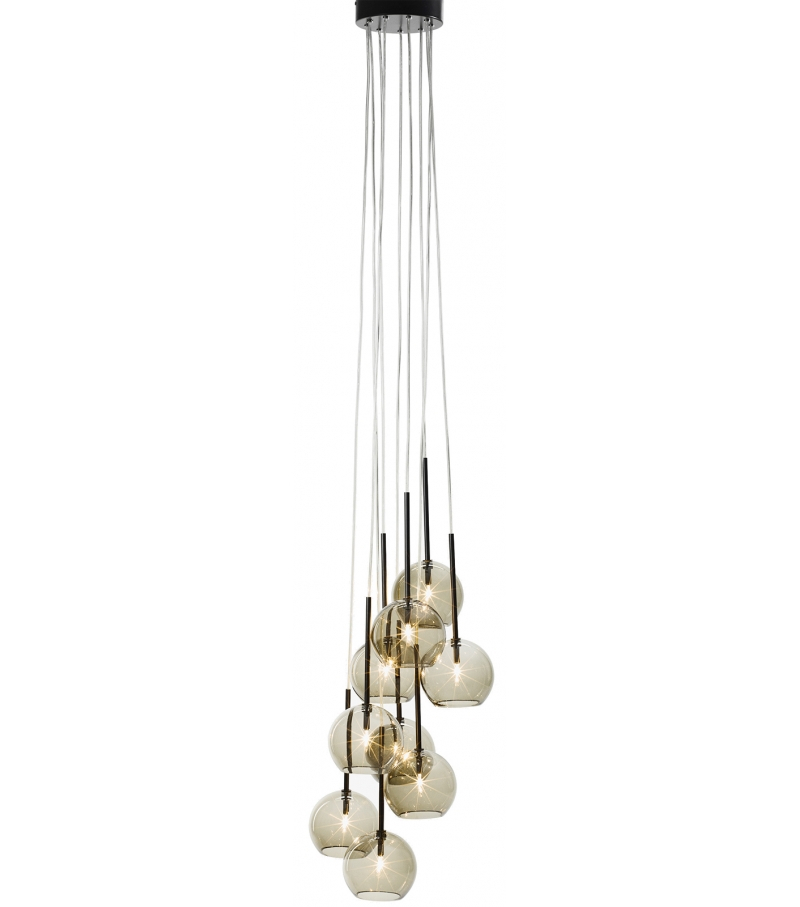 &tradition Ice 9 chandelier hanglamp-Goud