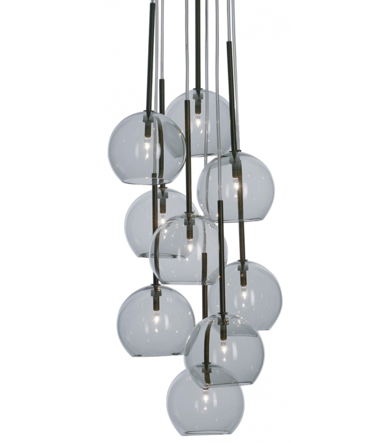 &tradition Ice 9 chandelier hanglamp-Zilver