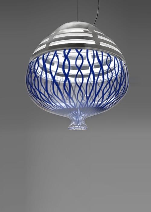 Artemide Invero 214 Suspension hanglamp-Blauw