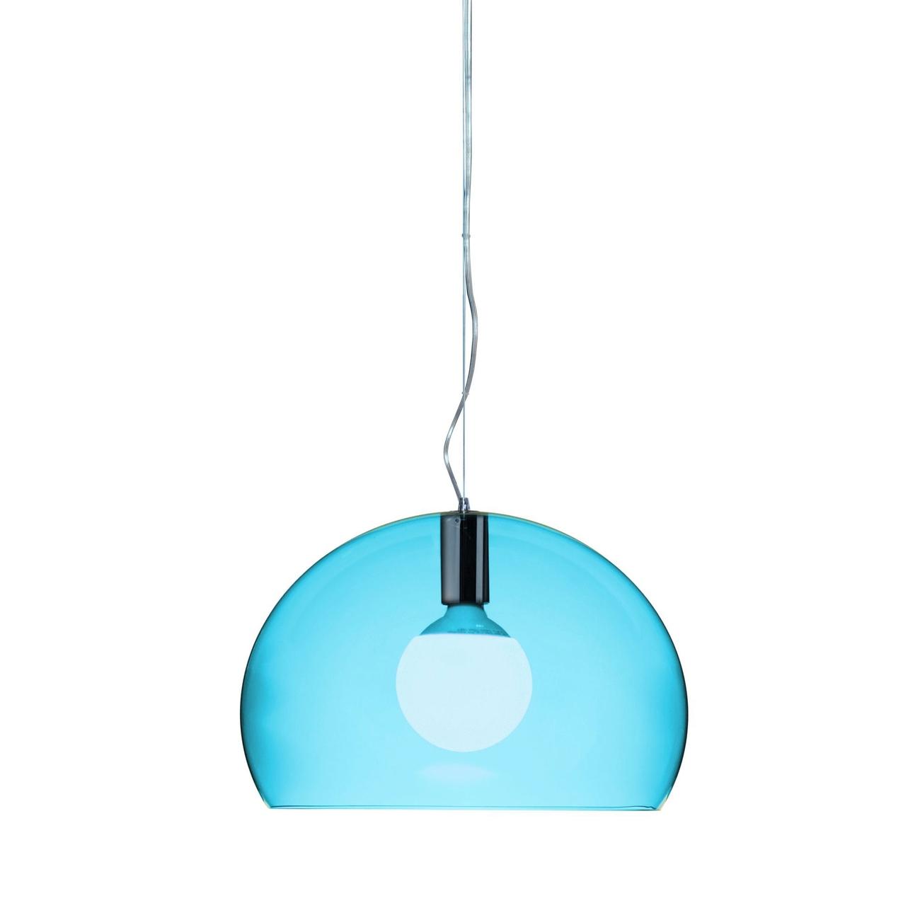 Kartell Small Fly hanglamp-Petrol