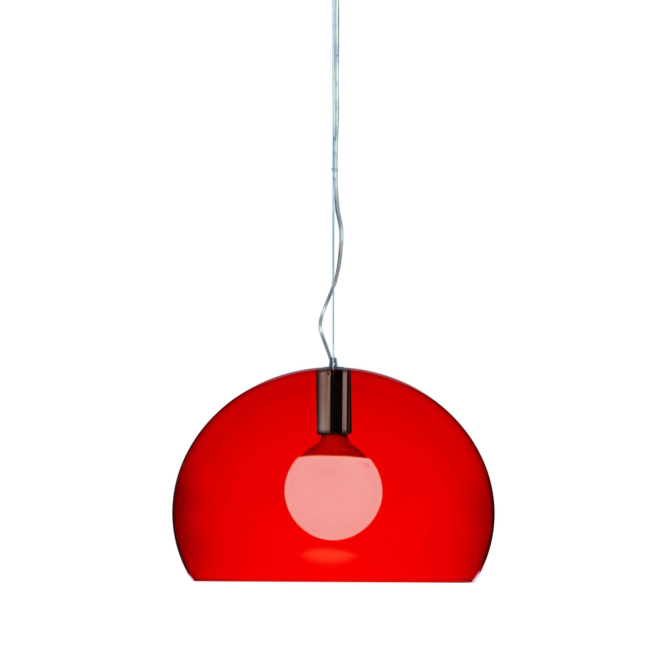 Kartell Small Fly LED hanglamp-Rood