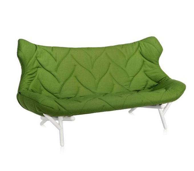 Kartell Foliage bank-Frame wit-Groen