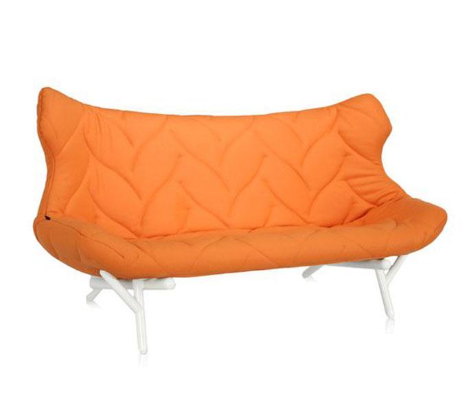 Kartell Foliage bank-Frame wit-Oranje
