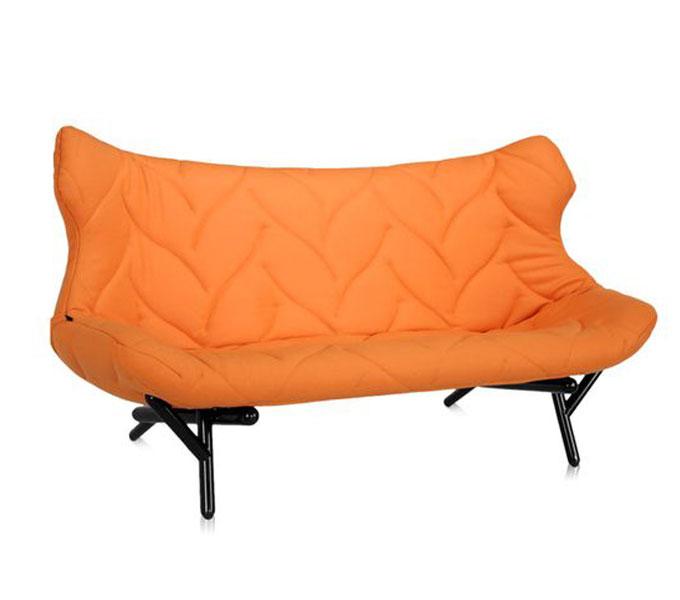 Kartell Foliage bank-Frame zwart-Oranje