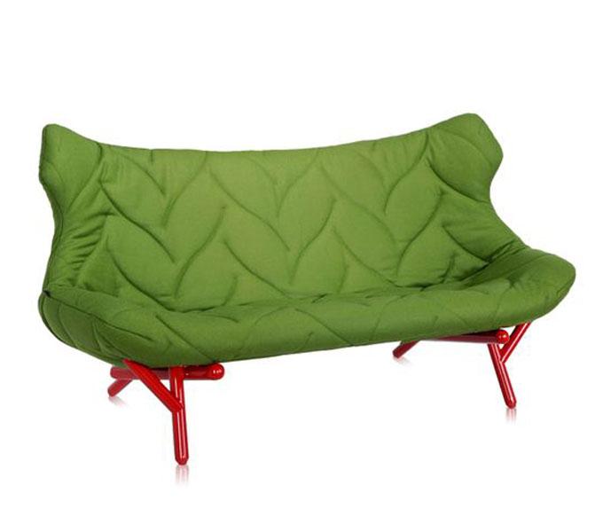Kartell Foliage bank-Frame rood-Groen