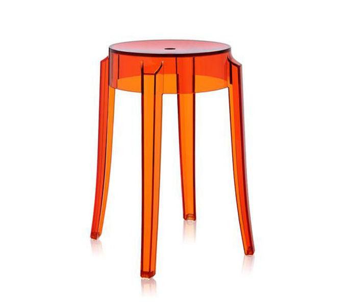Kartell Charles Ghost kruk-Oranje-Zithoogte 46 cm