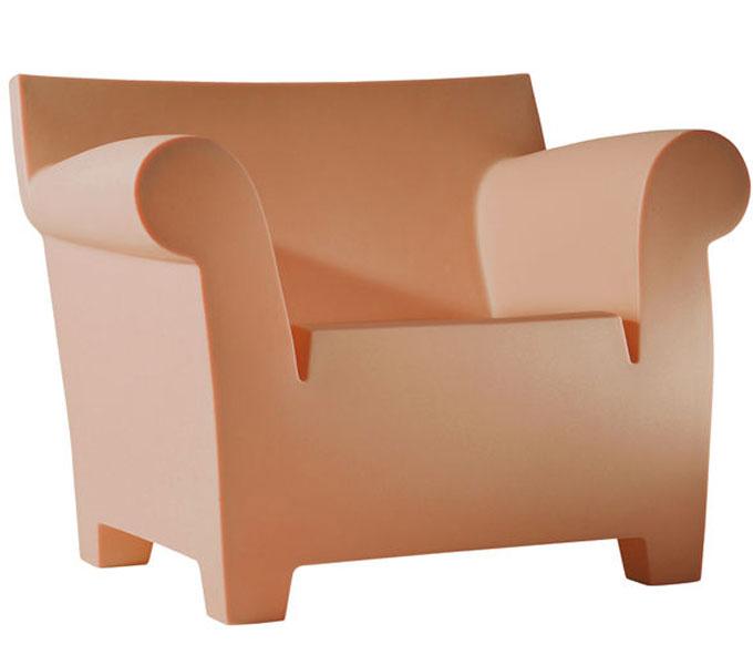 Kartell Bubble club stoel-Terracotta