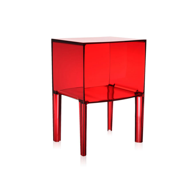 Kartell Small Ghost Buster kast-Rood