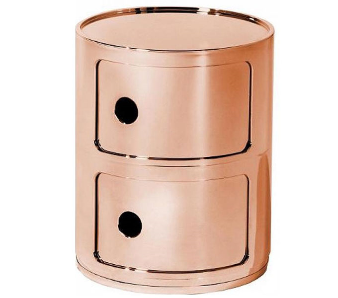 Kartell Componibili metallic kastje-Koper-2 hoog