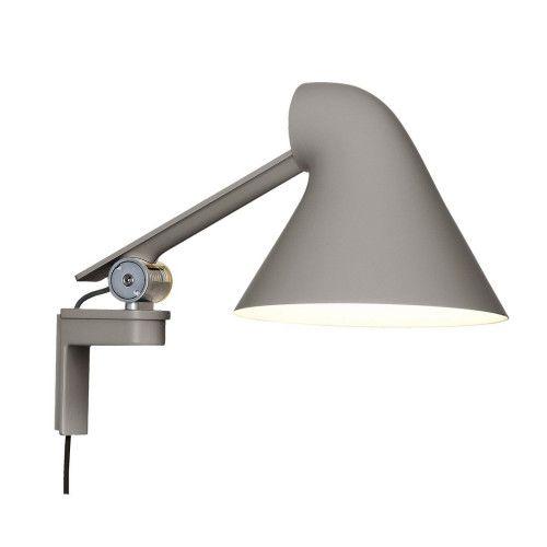 Louis Poulsen NJP Short Arm wandlamp-Grijs
