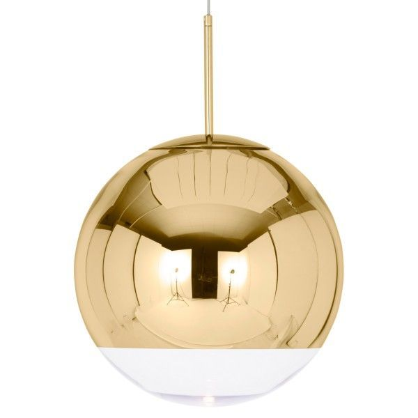 Tom Dixon Mirror Ball 40 cm hanglamp-Goud