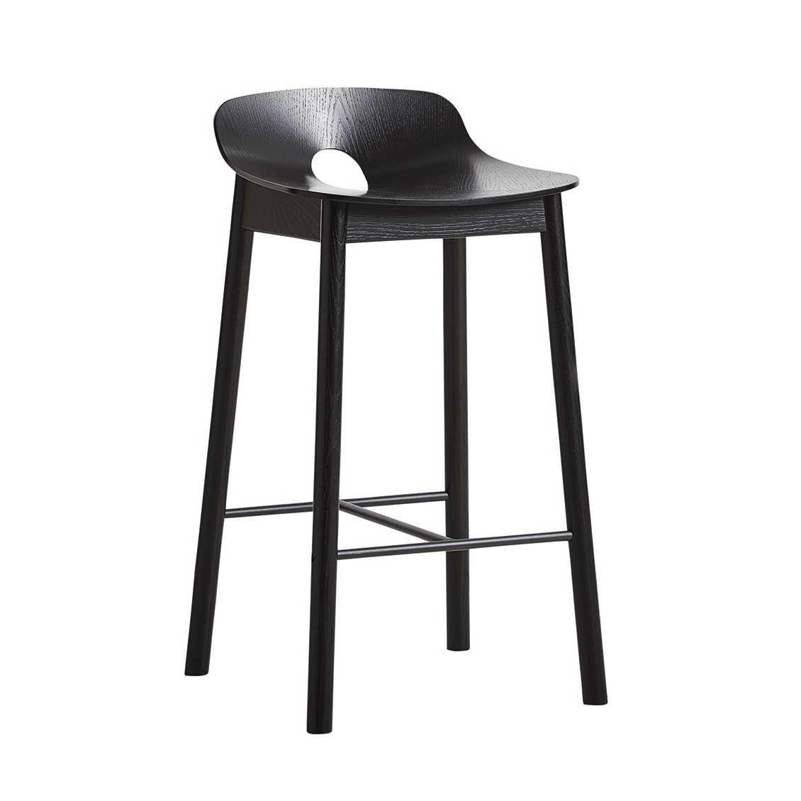 WOUD Mono barkruk-Zwart-Zithoogte 65 cm