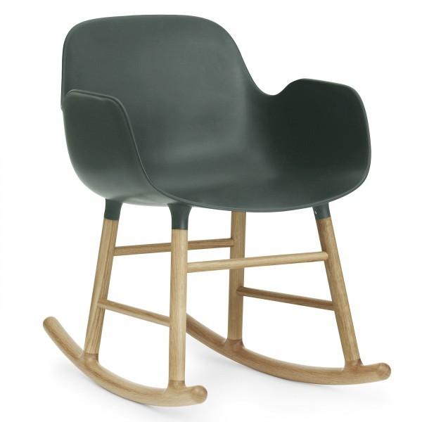 Normann Copenhagen Form Rocking armchair eiken-Groen