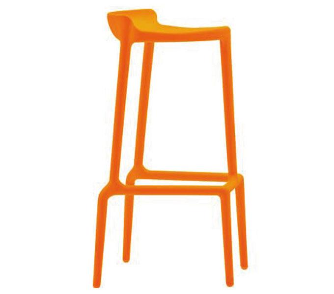 Pedrali Happy 490 barkruk-Oranje