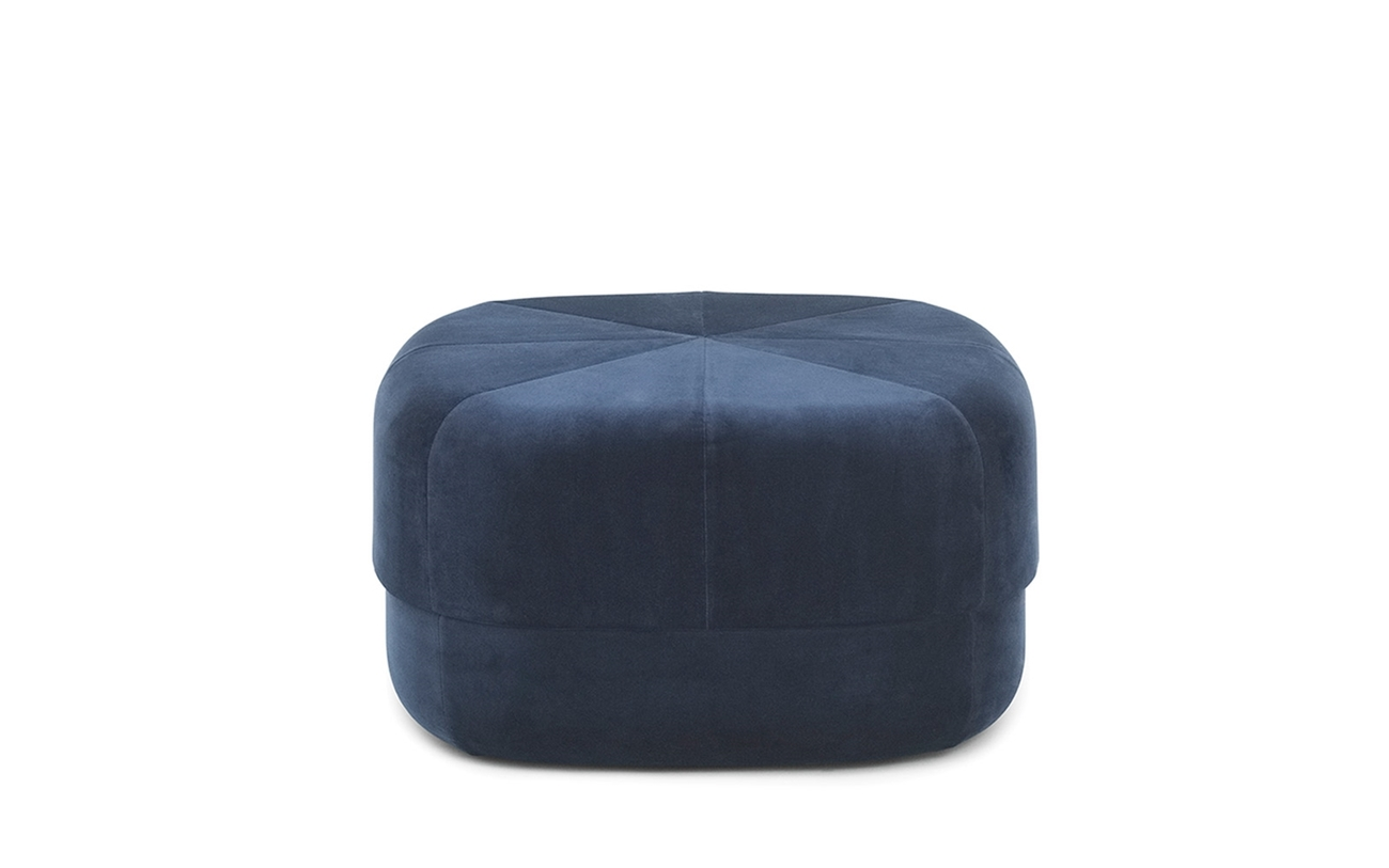 Normann Copenhagen Circus Pouf Large poef-Donker blauw