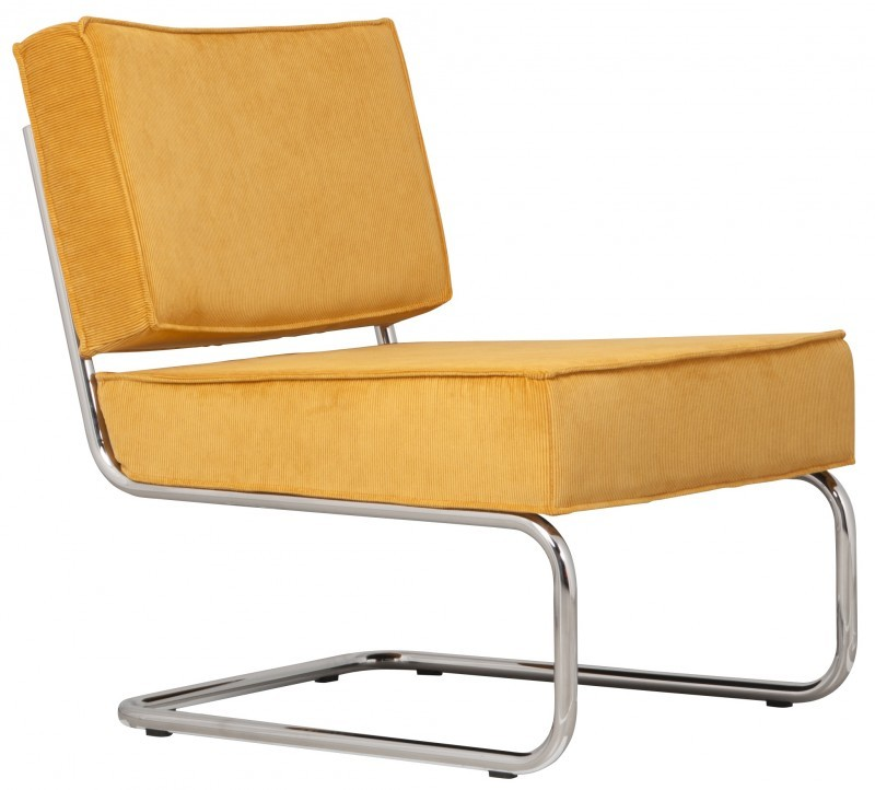 Zuiver Ridge Lounge Rib stoel-Geel
