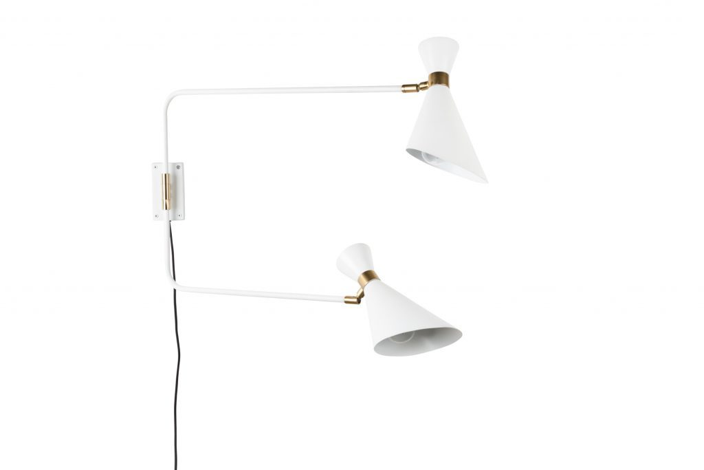 Zuiver Shady Double wandlamp-Wit
