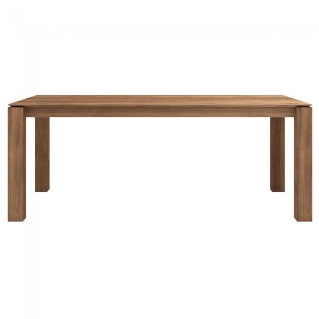 Ethnicraft Slice Dining Table teak tafel-150x150 cm