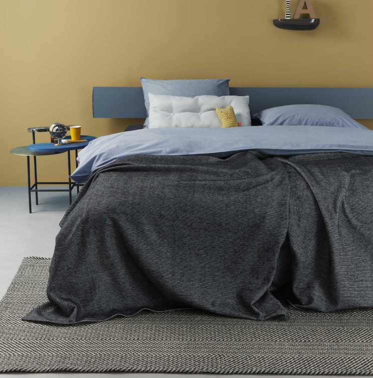 Auping Two Tone Black sprei 260x260 cm OUTLET