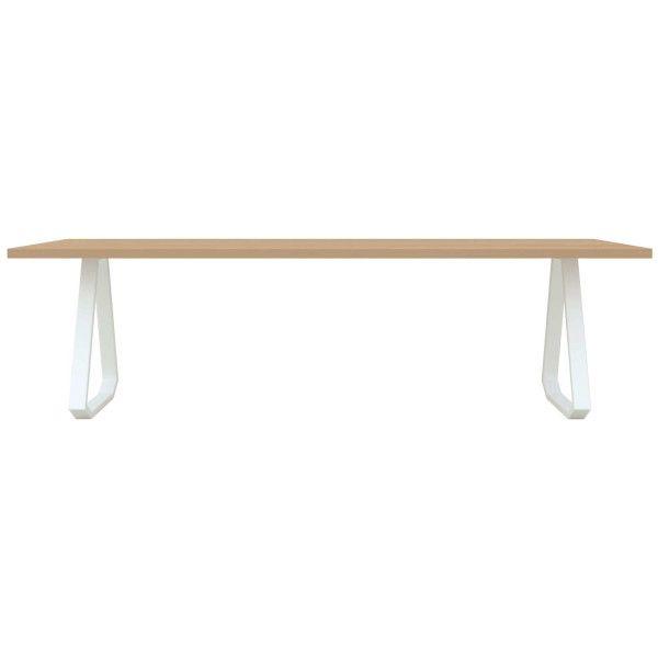 Studio HENK Topple tafel wit frame 4 cm 220x90 cm Hardwax oil natural