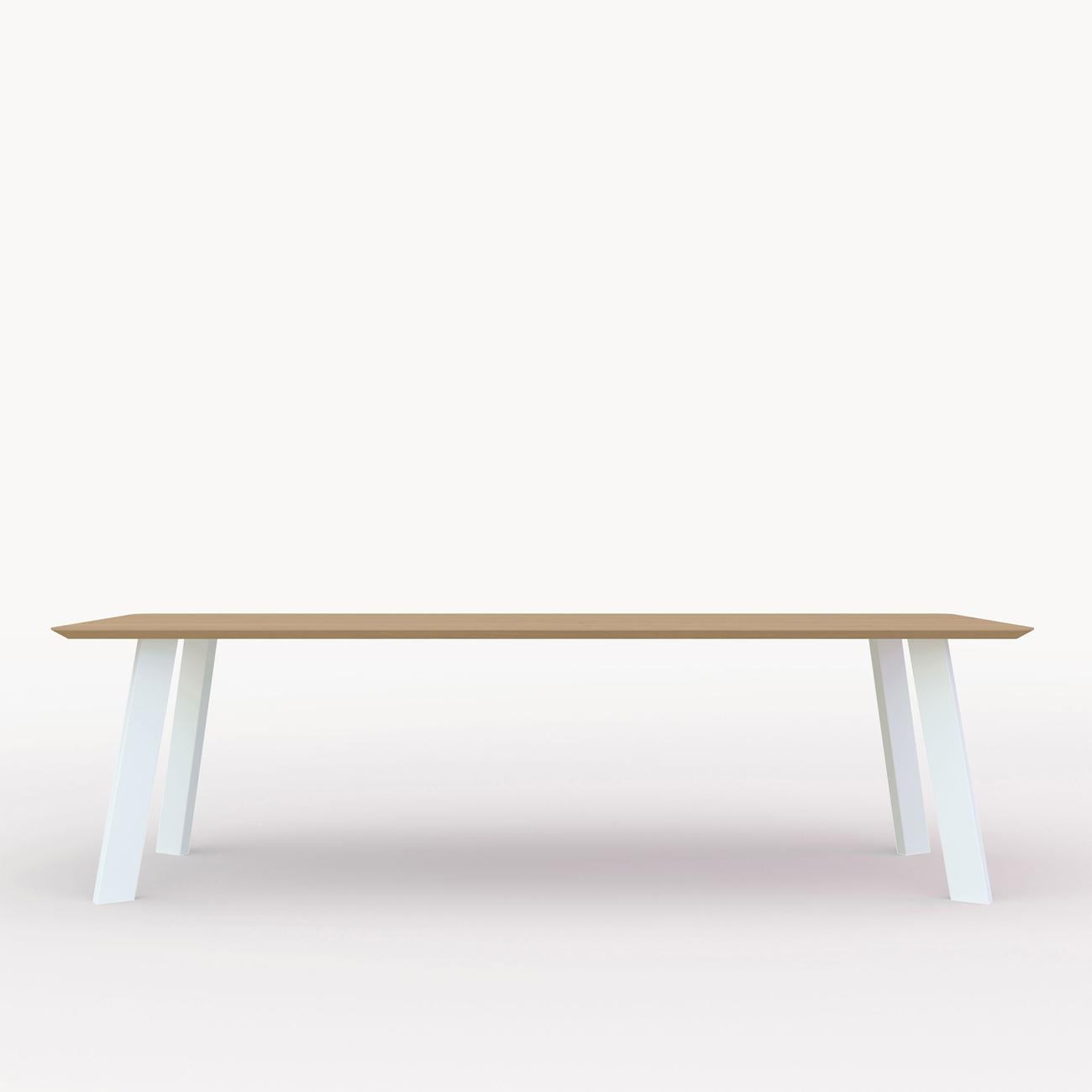 Studio HENK New Co tafel wit frame 4 cm 220x90 cm Hardwax oil natural