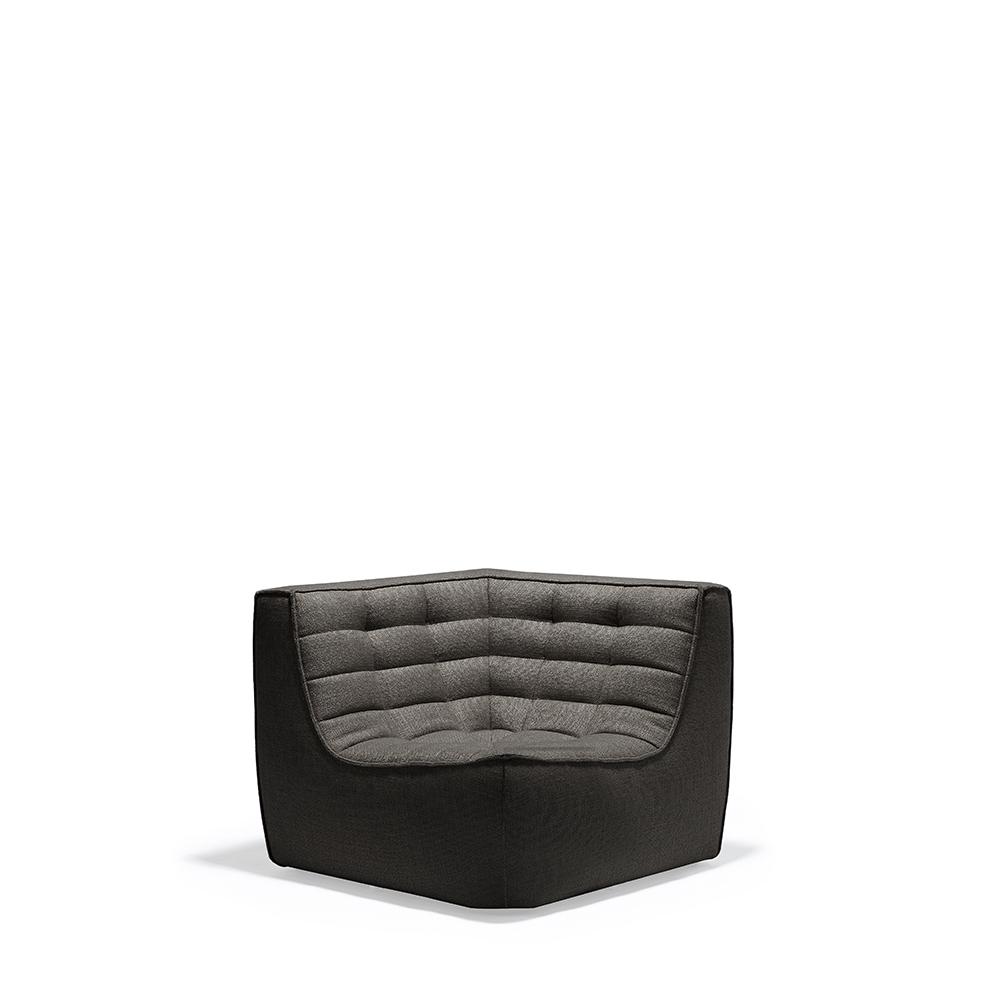 Ethnicraft N701 Sofa corner hoekdeel-Donker grijs